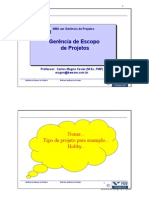 Gerênciamento de Escopo de Projetos - Carlos Magno Xavier