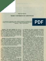 Tiempo y Movimiento en Aristoteles (Edgar Roy Ramirez)