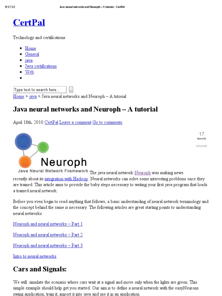 Java network programming tutorial gallery any tutorial examples java neural networks and neuroph a tutorial certpal test set java neural networks and neuroph a baditri Images