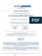 Reception with Mitt Romney for Romney Victory Inc.