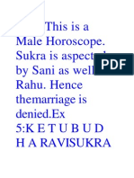 SANIThis is a Male Horoscope