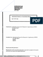 Agroforestry Species-Crop Sheet Manual