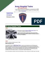US Army Hospital Trains
