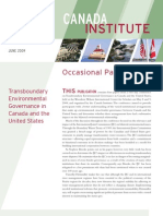 Transboundary Environmental Governance in Canada and the United States