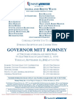Dinner with Mitt Romney for Romney Victory Inc.