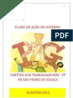 Plano de de Governo de Alexandre 13 em São Pedro do Iguaçu