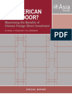 An American Open Door? Maximizing the Benefits of Chinese Foreign Direct Investment
