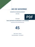 Plano de Governo James Gomes do PSDB