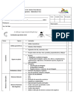 Ficha de Diagnóstico - matemática -  6ºano