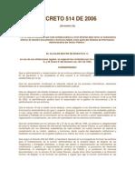 Decreto 514 20 Diciembre 2006