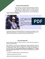 ESTRUCTURAS DE DIRECCIÓN