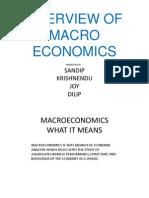 Overview of Macro Economics