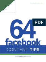 64 Facebook Status Update Tips
