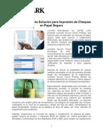 Lexmark presenta Solución para Impresión de Cheques en Papel Seguro