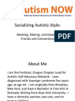 Autistic Self Advocacy Network Webinar with Autism NOW September 11, 2012