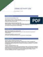 North Sac Crime Activity Log (Sept 11, 2012 – Sept 17, 2012)
