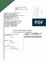SEC Complaint Against Cole