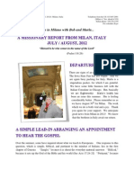 The Italian Memorandum - July 2012 Report