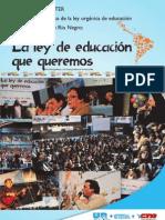 Documento de UnTER La ley de educación que queremos