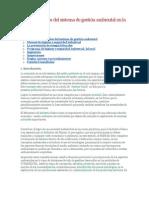 Particularidades del sistema de gestión ambiental en la industria