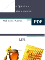 BROMATOLOGIA - LEITE,CARNES E MEL