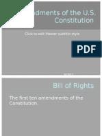 Us History Class Amendments