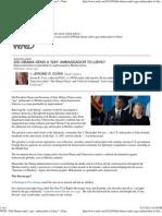 Did Obama send a 'gay' ambassador to Libya » Print