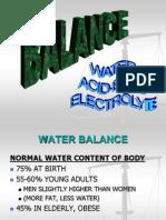Water , Balance