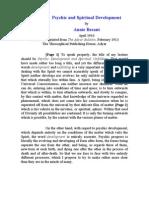 Annie Besant - Psychic and Spiritual Development