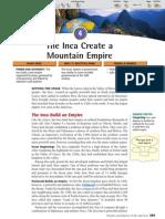 Ch 16 Sec 4 - The Inca Create a Mountain Empire