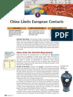 Ch 19 Sec 2 - China Limits European Contacts