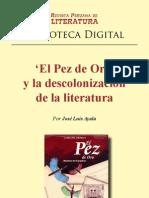 El Pez de Oro y La Descolonizacion de La Literatura