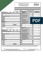 BIR 2305 form