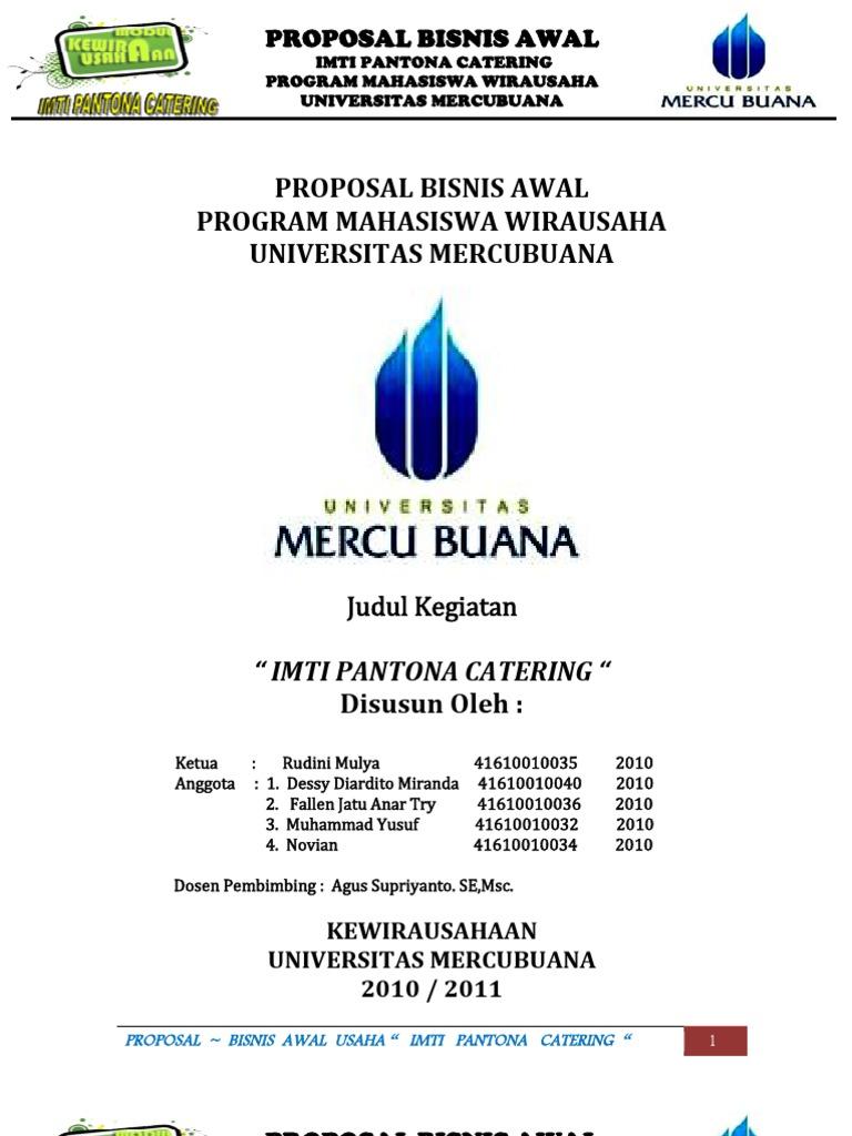 Contoh Proposal Bisnis Kewirausahaan Mahasiswa-Rudini,dkk ...