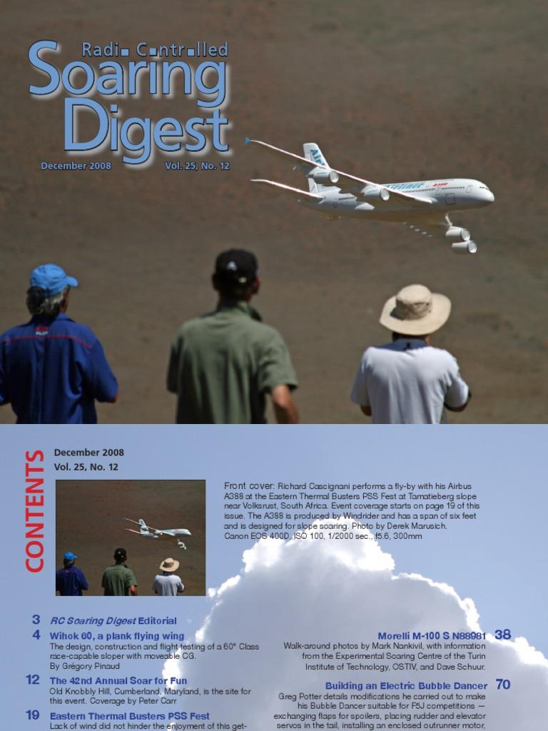 R/C Soaring Digest - Dec 2008 | Airfoil | Flap (Aeronautics)