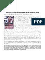 Represion en Contra de Comunidades San Rafel Las Flores