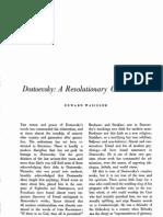 Dostoevsky - A Revolutionary Conservative