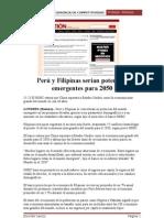 Perú y Filipinas serían potencias emergentes para 2050