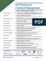 Best Practice in Enterprise Content Management