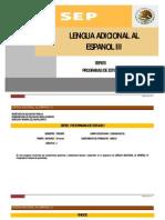 Programa Lengua Adicional ingles-III