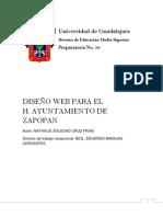 DISEÑO WEB PARA EL H. AYUNTAMIENTO DE ZAPOPAN