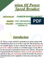 Power Jeneration by Speed Breaker