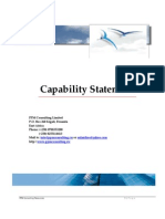 Capability Statement for PPM Consulting Limited