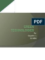 Green Tech.