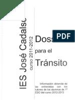 Dossier de tránsito para profesores IES José Cadalso 2012