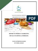 Dst221 Statistical Modeling