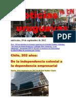Noticias Uruguayas miércoles 19 de setiembre del 2012