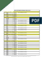Horarios de Instrumento Disponibles Curso 2012