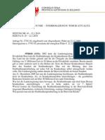 Anfrage und Antwort Strahlentherapie Januar 2010