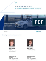 Etude Oliver Wyman - Automotive Trends - VF